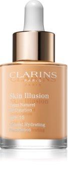Clarins Skin Illusion Natural Hydrating Foundation világosító hidratáló make-up SPF 15