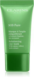 Clarins SOS Pure rebalančná ílová maska pre perfektnú pleť
