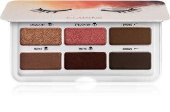Clarins Eye Make-Up Ready In A Flash палітра тіней для повік та брів