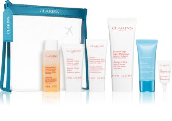 Clarins Head To Toe Moisturizing Essentials Travel Set for Women