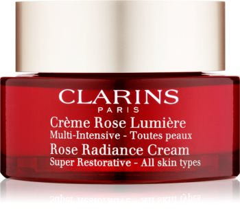 Clarins Rose Radiance Cream Super Restorative Anti - Aging Day Cream with Anti-Wrinkle Effect