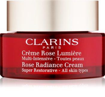 Clarins Rose Radiance Cream Super Restorative obnovující denní krém proti vráskám