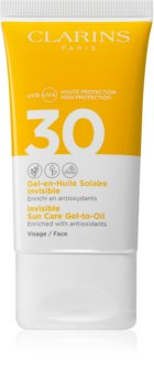Clarins Invisible Sun Care Gel-to-Oil fluid za sunčanje za lice SPF 30
