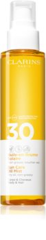 Clarins Sun Care Oil Mist ξηρό λάδι για μαλλιά και σώμα SPF 30