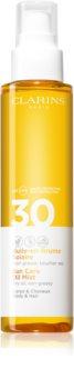 Clarins Sun Protection ξηρό λάδι για μαλλιά και σώμα SPF 30