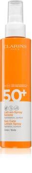 Clarins Sun Care Lotion Spray защитный спрей для загара SPF 50+
