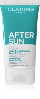 Clarins Sun Soothers καταπραϋντικό τζελ για μετά την ηλιοθεραπεία για  αύξηση της διαρκείας του μαυρίσματος