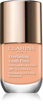 Clarins Everlasting Youth Fluid make-up pentru luminozitate SPF 15