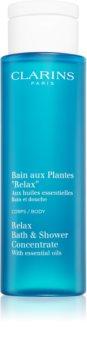 Clarins Relax Bath & Shower Concentrate banho relaxante e gel banho com óleos essenciais