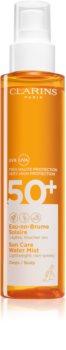 Clarins Sun Care Water Mist прозрачна мъбла за слънчеви бани SPF 50+