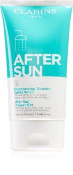 Clarins After Sun Shower Gel гель для душа после загара для лица, тела и волос
