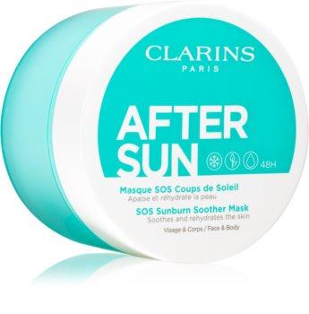 Clarins After Sun SOS Sunburn Soother Mask máscara facial calmante pós-solar
