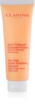 Clarins One Step Gentle Exfoliating Cleanser with Orange Extract curatare usoara dupa exfoliere