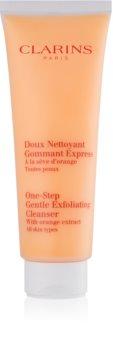 Clarins One Step Gentle Exfoliating Cleanser with Orange Extract nežni čistilni piling