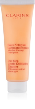 Clarins One Step Gentle Exfoliating Cleanser with Orange Extract scrub detergente delicato