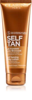 Clarins Self Tan Milky Lotion samoopalovací mléko na tělo a obličej