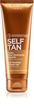 Clarins Self Tan Instant Gel gel autobronzeador para corpo e rosto