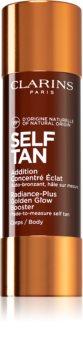 Clarins Self Tan Radiance-Plus Golden Glow Booster produtos bronzeadores para corpo