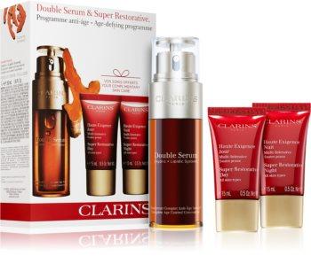 Clarins Double Serum & Super Restorative Set косметичний набір (проти старіння шкіри)