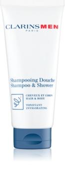 Clarins Men Shampoo & Shower освежаващ шампоан за тяло и коса