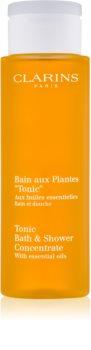 Clarins Tonic Bath & Shower Concentrate Brus og badegel Med essentielle olier