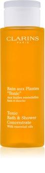Clarins Tonic Bath & Shower Concentrate sprchový a koupelový gel s esenciálními oleji