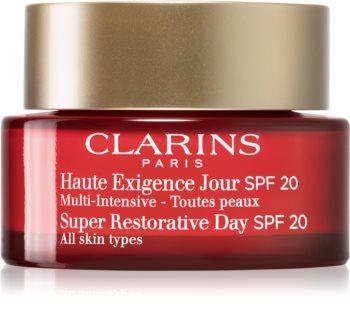 Clarins Super Restorative Day denní liftingový krém proti vráskám pro všechny typy pleti SPF 20