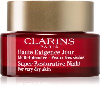 Clarins Super Restorative Night crema de noapte împotriva tuturor semnelor de imbatranire pentru piele foarte uscata