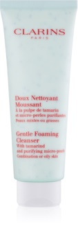 Clarins Gentle Foaming Cleanser with Tamarind and Purifying Micro-Pearls spuma de curatat pentru ten gras și mixt