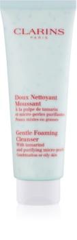 Clarins Gentle Foaming Cleanser with Tamarind and Purifying Micro-Pearls tisztító hab kombinált és zsíros bőrre