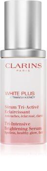 Clarins White Plus Pure Translucency Tri-Intensive Brightening Serum розяснююча сироватка проти пігментних плям