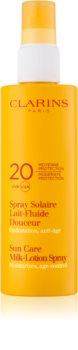 Clarins Sun Protection mleczko do opalania w sprayu SPF 20