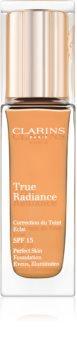 Clarins Face Make-Up True Radiance podkład nawilżająco-rozświetlający nadający perfekcyjny wygląd SPF 15