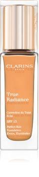 Clarins Face Make-Up True Radiance rozjasňující hydratační make-up pro dokonalý vzhled SPF 15