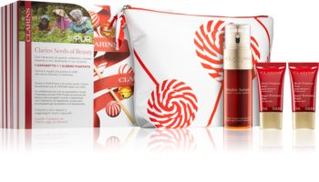Clarins Double Serum & Super Restorative Cosmetic Set (with Anti-Aging Effect)