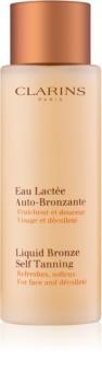 Clarins Liquid Bronze Self Tanning sredstvo za samotamnjenje za lice i dekolte