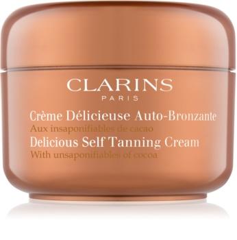 Clarins Sun Self-Tanners Selbstbräunercreme für Körper und Gesicht mit Kakaobutter