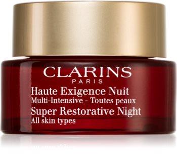 Clarins Super Restorative Night creme de noite contra todos os sinais de envelhecimento para todos os tipos de pele