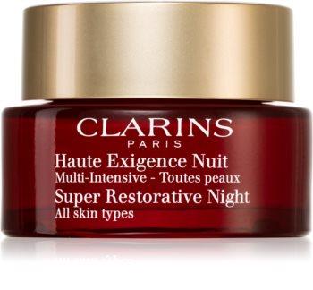 Clarins Super Restorative Night нощен крем против всички признаци на стареене за всички типове кожа на лицето