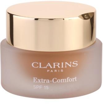Clarins Face Make-Up Extra-Comfort fond de teint illuminateur et rajeunissant pour un look naturel SPF 15