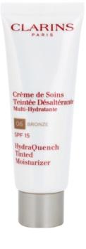 Clarins HydraQuench Tinted Moisturizer лек тониращ крем с хидратиращ ефект SPF 15