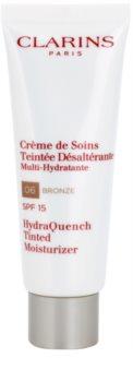 Clarins HydraQuench Tinted Moisturizer Let farvepigmenteret og fugtgivende ansigtscreme SPF 15