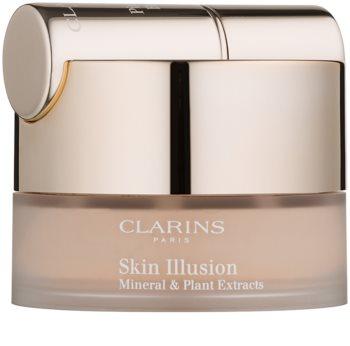 Clarins Face Make-Up Skin Illusion Powder Foundation with Brush