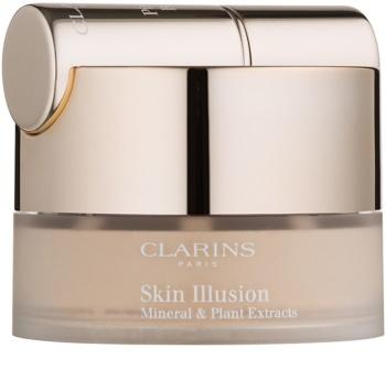 Clarins Face Make-Up Skin Illusion fond de teint poudre avec pinceau