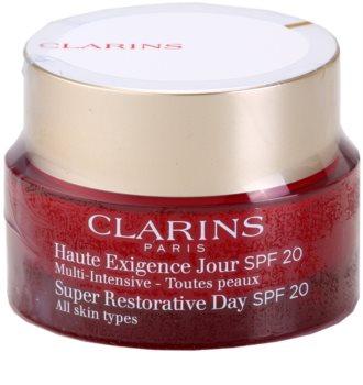 Clarins Super Restorative Day Illuminating Lifting Replenishing Cream for All Skin Types SPF 20