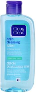 Clean & Clear Deep Cleansing hloubkově čisticí pleťová voda pro citlivou pleť