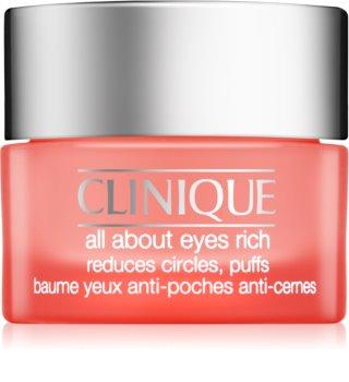 Clinique All About Eyes Rich crema de ochi hidratanta  împotriva ridurilor și a cearcănelor întunecate