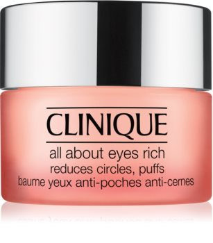 Clinique All About Eyes™ Rich hidratantna krema za područje oko očiju protiv oticanja i tamnih krugova