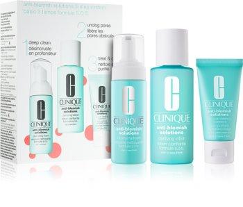 Clinique Anti-Blemish Solutions™ Clear Skin System Starter Kit cestovní sada I. pro ženy