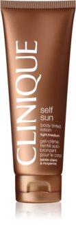 Clinique Self Sun™ Body Tinted Lotion lait corporel auto-bronzant